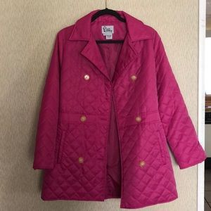 Lilly Pulitzer hot pink quilted jacket small